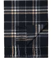Jos. A. Bank Plaid Cashmere Scarf (Navy)
