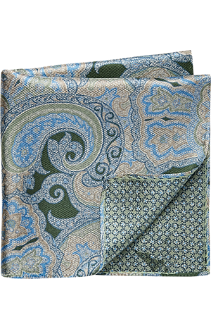 Men's Accessories, Jos. A. Bank Reversible Paisley & Floral Pocket Square - Jos A Bank