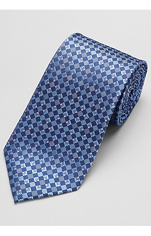 Men's Accessories, Traveler Collection Geometric Tie - Jos A Bank