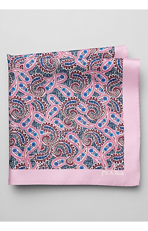 Men's Gifts for Dad, Jos. A. Bank Small Paisley Pocket Square - Jos A Bank
