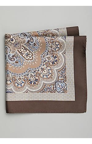 Men's Accessories, Jos. A. Bank Paisley & Scroll Pocket Square - Jos A Bank