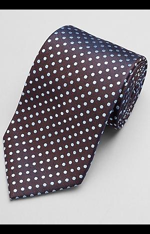 Men's FLYOUT_CATEGORY, Traveler Collection Polka Dot Tie - Long - Jos A Bank
