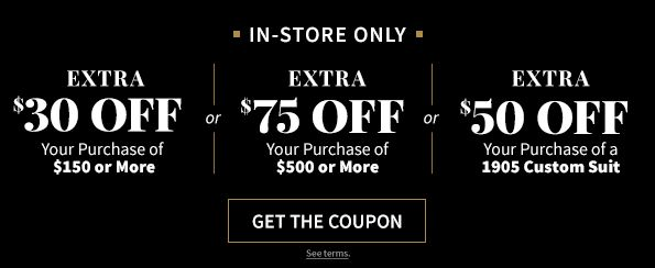 photograph regarding Express Coupons Printable 30 Off 75 named JoS. A. Lender Coupon codes Promo Codes - $30 or $75 OFF Inside-retail store